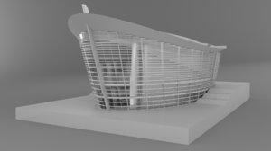 3D opera house building model