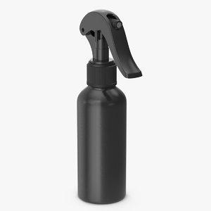 3D model spray bottle black reusable