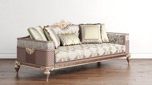 couch rivesa art deco 3D