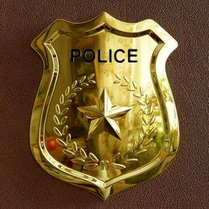 police badge ready 3D model