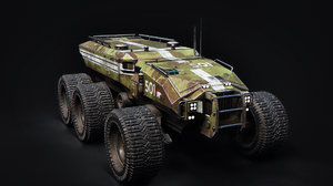 technical vehicle transporter 3D model