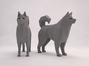 dog animation 3D model