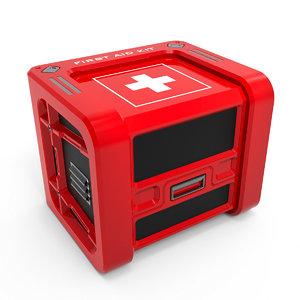 aid kit - 3D model