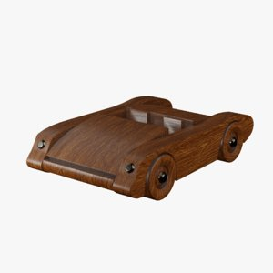 3D model wood toy sport car