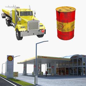 3D shell oil model