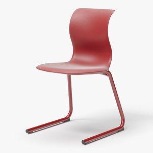 modern classroom chair 3D model