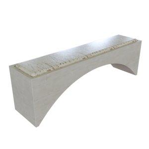 3D architecture arc bench model