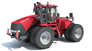 wheeled articulated tractor 3D