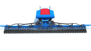trailed seed drill agricultural 3D model