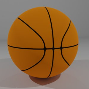 3D basketball ball basket