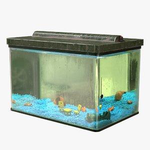 simple cartoon aquarium animation 3D model