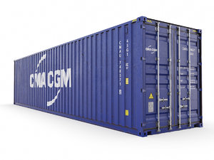 shipping container cma-cgm 40 3D