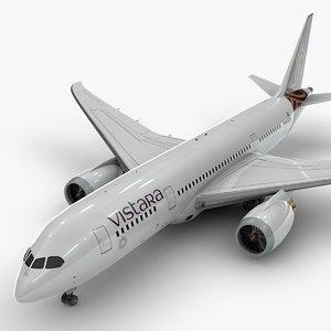 boeing 787 dreamliner vistara 3D model