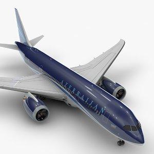boeing 787 dreamliner azerbaijan 3D