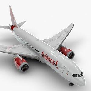 boeing 787 dreamliner avianca 3D model
