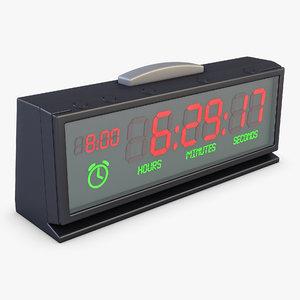 3D model digital clock v 1