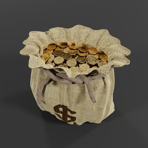 dollar coins burlap model