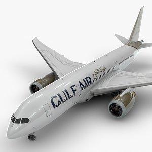 3D boeing 787 dreamliner gulf model