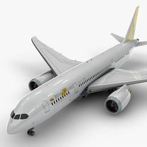 3D boeing 787 dreamliner royal