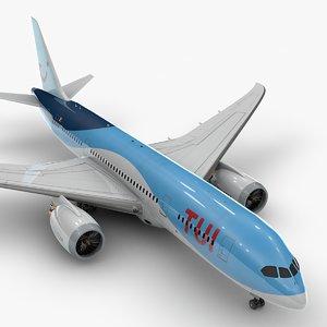 boeing 787 dreamliner tui 3D model