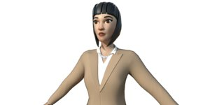 woman maps animations 3D model