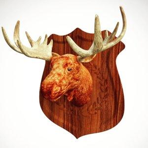 3D moose head model
