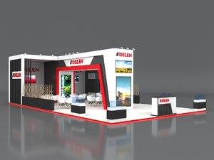 3D stall 14x8m height 400
