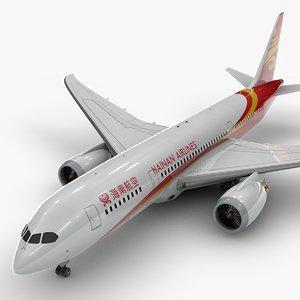 3D model 787 dreamliner hainan airlines