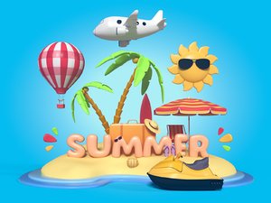 summer 3D model