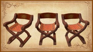 3D chair medieval unity model