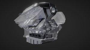 3D v6 engine