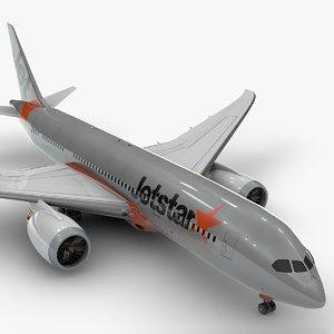 3D 787 dreamliner jetstar l907