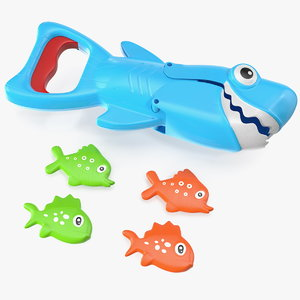 shark grabber bath toy 3D model