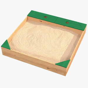 wood sandpit storage box 3D model
