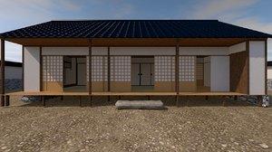 3D japanese palace