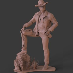 rdr2 arthur morgans sculpture 3D model