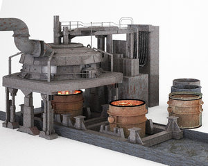 3D electric arc furnace model