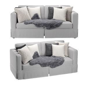 3D pillows hide sofa