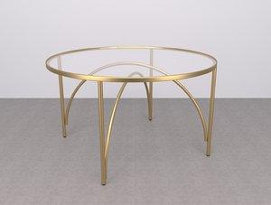 habitat giovanna glass brass 3D model