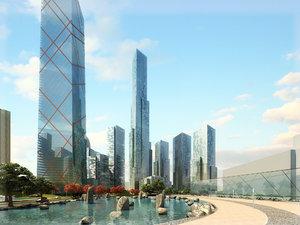skyscraper building 3D