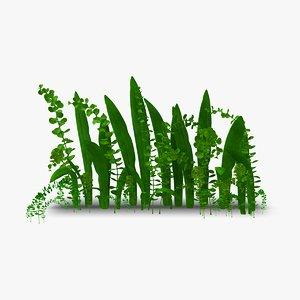 plant animation aquarium rigged 3D model