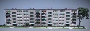 3D building apartments model