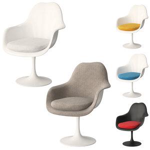 chair knoll tulip armchair 3D model