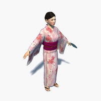 Japanese Kimono Yukata Girl