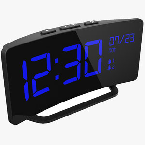 3D real alarm clock model