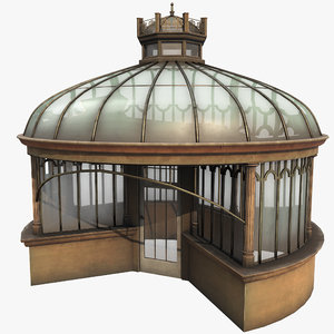 3D victorian glass house