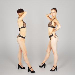 photogrammetry beautiful young woman 3D model