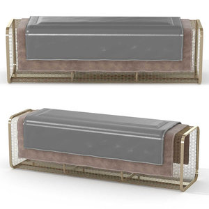 3D bench caballito long model