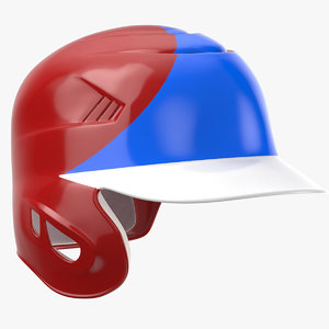 3D baseball helmet ear flap model