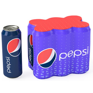 3D pack cans shrinkwrapped packaging